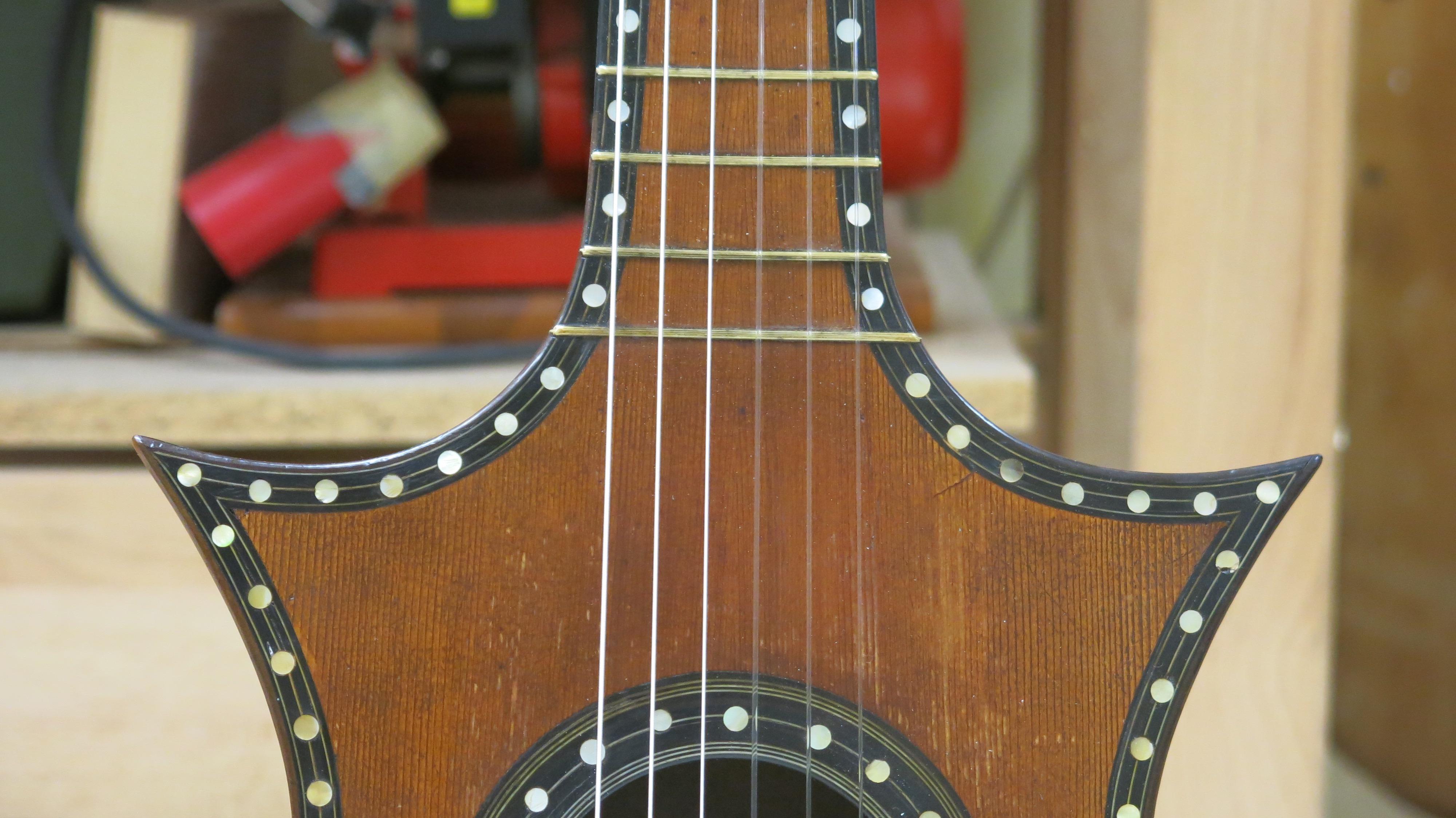 Restauration guitare romantique J.L Mast Mirecourt 1850