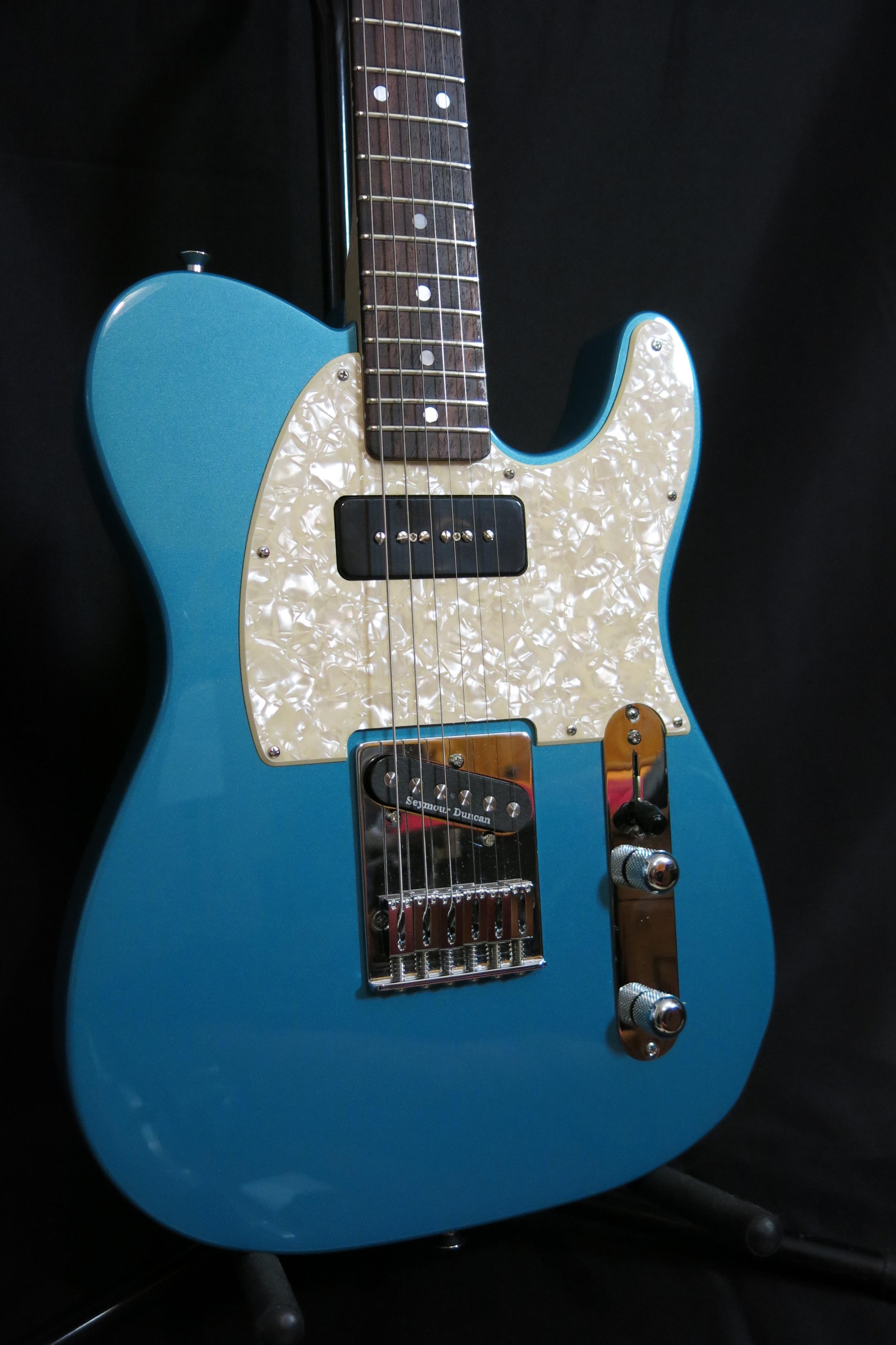 Telecaster Lo Piccolo Turquoise P90