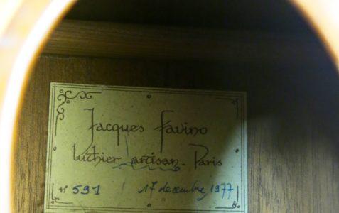 Guitare manouche Jacques Favino 1977